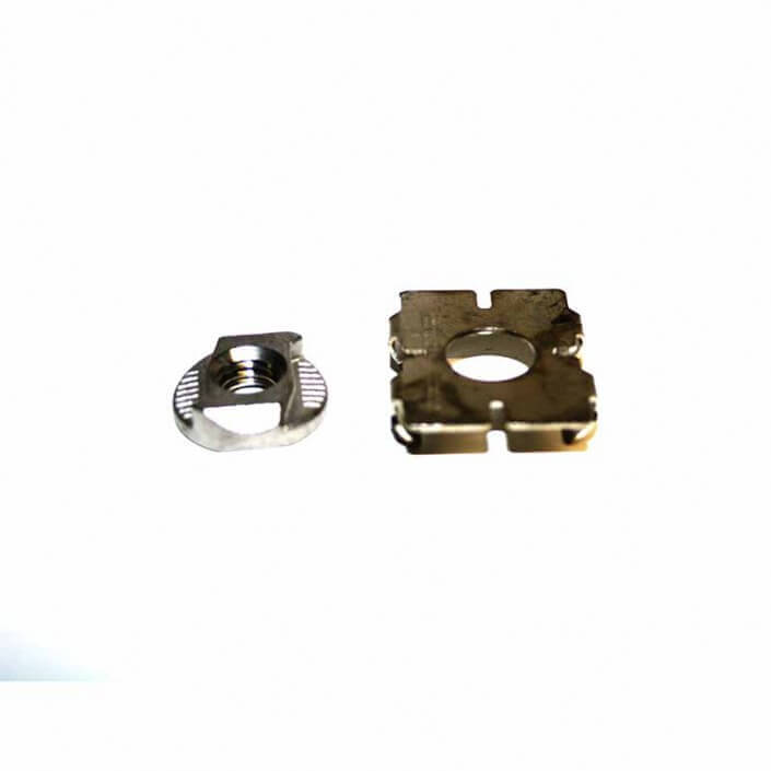 M8 Slot nut with clamping plate