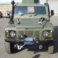 Defender winch bumper for rough applications.