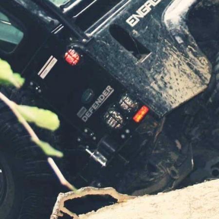 Land Rover Defender Lampenschutzgitter -Satz